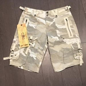 NWT Anthropologie Da Nang Camo Cargo Shorts XS
